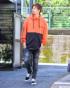 オレンジ:175cm/67kg(Lサイズ着用)