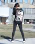ブラック:173cm(Mサイズ着用)