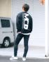 ブラック:173cm/72kg(Lサイズ着用)