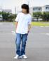 ホワイト:179cm/60kg(XLサイズ着用)